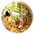 Assiette de salade. promouvoir restaurant instagram