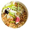 Prato de salada. Promover restaurante Instagram