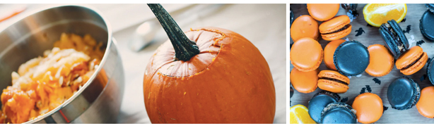 squash macaroons Halloween restaurante