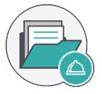 ícone banco de dados captar clientes restaurante newsletter