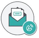icona della busta con lettera attrarre clienti ristorante newsletter