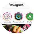 histórias do Instagram. Promover restaurante Instagram
