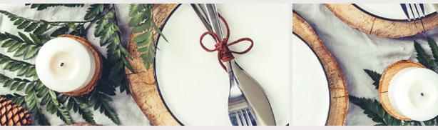 Table de restaurant décorée de Noël afficher complet restaurant