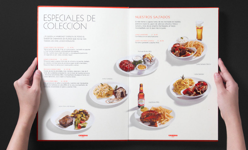 ElTenedor - marketing para restaurantes carta del restaurante Caravana