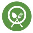 thefork - gestione ristorante - grafico icona coltello e forchetta
