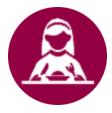 thefork - gestione ristorante - grafico icona cliente di mangiare in un ristorante