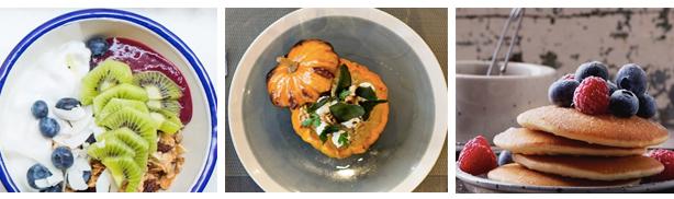 Soupe au potiron, Pancakes, bowls brunch automne