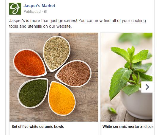 ElTenedor. Atraer clientes al restaurante con anuncios en Facebook con varias imágenes