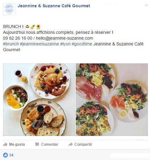 ElTenedor- Atraer clientes cofreciendo Brunch - Jeannine & Suzanne Café Gourmet Lyon