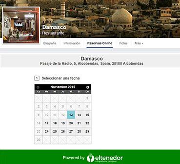 ElTenedor estrategias de marketing para restaurantes en Facebook - botón de reserva de ElTenedor