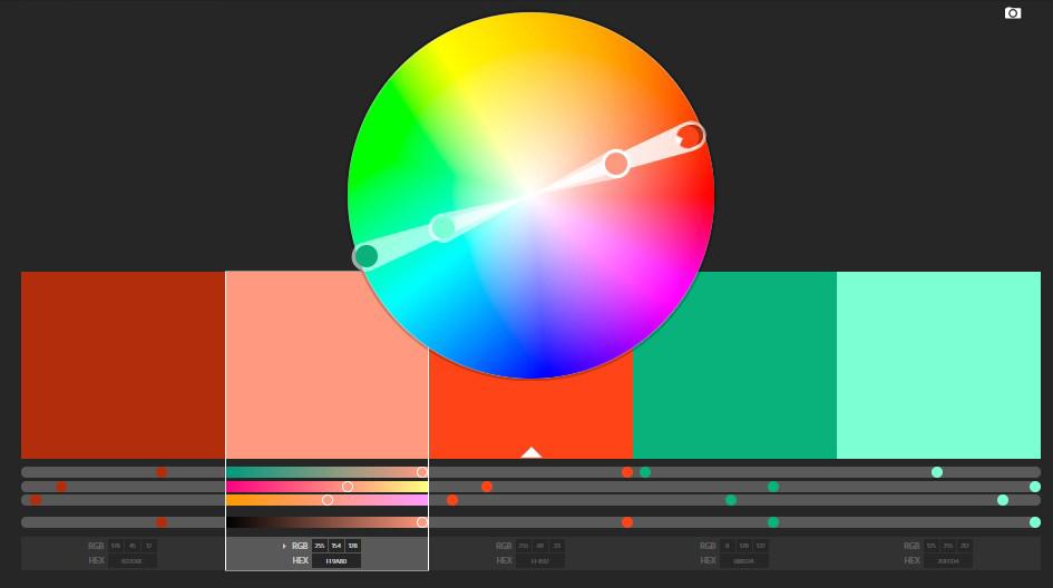 ElTenedor - Marketing de restaurantes - cómo crear el mejor logo - rueda cromática Adobe