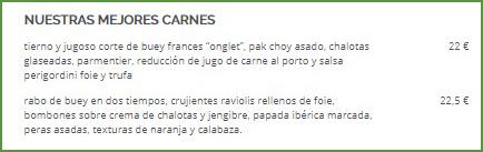 ElTenedor - marketing de restaurantes - menú publicado en ElTenedor