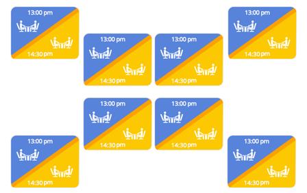 Software de gestión de reservas para restaurantes para doblar las mesas en un plano digital