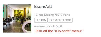 Iens TheFork De organische restaurants en gezonde gasten ontvangen