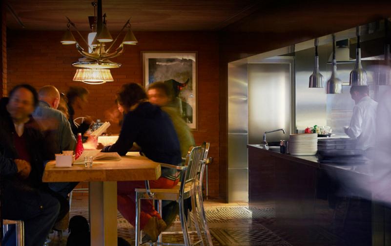 La Fourchette gestion restaurant: cuisine ouverte dans restaurant Ma Cocotte Paris