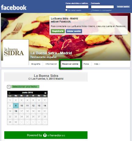 facebook para restaurantes